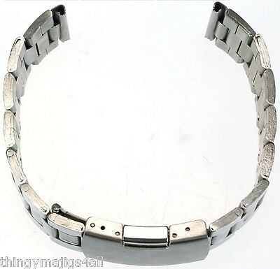 Adjustable Solid Stainless Steel Clasp Watch Strap Band 18mm 20mm 22mm Metal UK