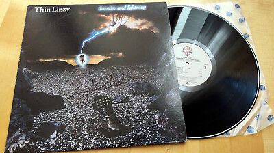 Thin Lizzy - Thunder And Lightning LP Autogramm signed signiert autographed