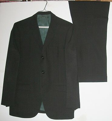 Botany 500 3 Button Jacket Suit Cuffed Trousers Tailored by Daroff 1960s-1970s?