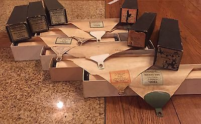Lot of 6 Supertone Player Piano Rolls, Good working condition, early 1900,s