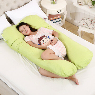 Comfort U Pillow Full Body Maternity Pregnancy Support  With Extra Zippered Case
