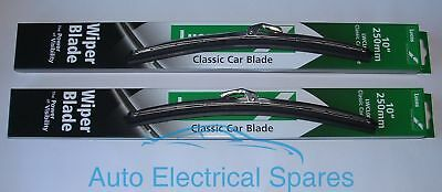 """lucas STAINLESS STEEL wiper blade 10"""" PAIR for MGB"""