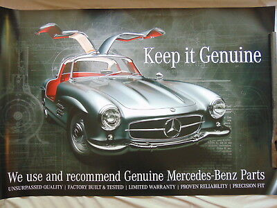 Factory Mercedes Benz 300SL/300 SL Parts Poster