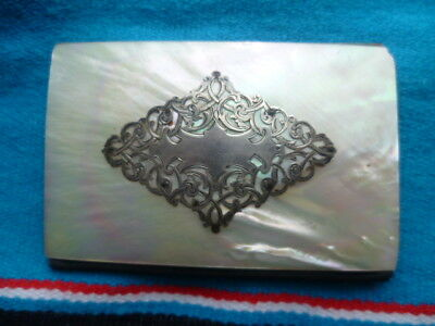 Victorian? Silver Mother of Pearl Card Case
