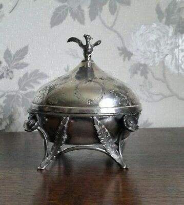 A Victorian Silver Plated Butter Dish, Simpson, Hall, Miller & Co, Very Ornate