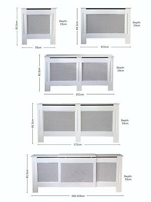 Unfinished or White Painted Traditional MDF Wood Diamond Radiator Cover Cabinet