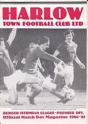 Harlow Town v Wealdstone FA Cup 4th Qual Round 1980/81