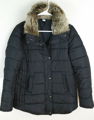 Old Navy Womens Maternity  Puffer Jacket Black size S