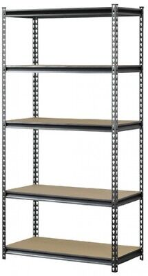 Muscle Rack 5-Shelf Steel Shelving, Silver-Vein Organizer Adjustable Storage