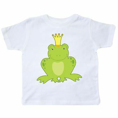 Inktastic Frog Prince Toddler T-Shirt Kiss Me Handsome Love Frogs Charming Crown