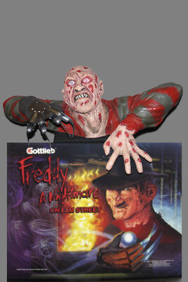 Freddy Kruger Nightmare on Elm Street Pinball Machine Topper with Red Led Eyes