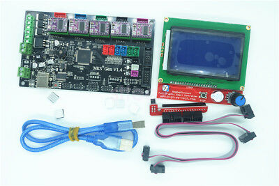 3D Printer Controller Kit  MKS Gen V1.4 + 12864 LCD Display +5pcs DRV8825 Driver
