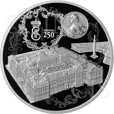 Russia 2014 25 rubel 250th Anniversary State Hermitage 5oz Proof Silver Coin