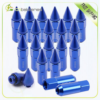 20 Pcs Cap Spiked Extended Tuner 60mm Aluminum Wheels Rims Lug Nuts For Toyota