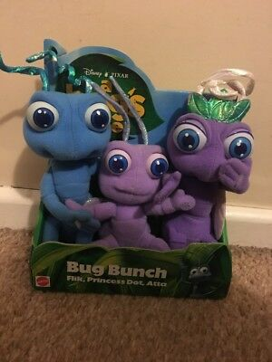 New A Bugs Life Flick Princess Dot Atta Bunch Disney Soft Toy Pixar Mattel Xmas