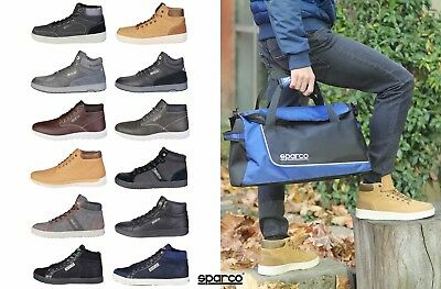 Scarpe alte uomo invernali SPARCO High-top lace-up men Sneakers shoes ITALY 2018