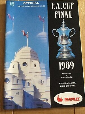 FA Cup Final Programme 1989 Everton v Liverpool