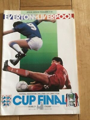 FA Cup Final Programme 1986 Liverpool v Everton