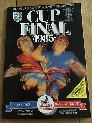 FA Cup Final Programme 1985 Manchester United v Everton
