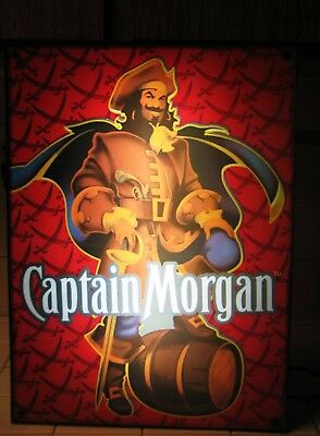2008 ~ Captain Morgan  Spicy Rum  Lighted  Man Cave Bar Sign