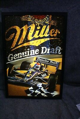 Vintage Miller Genuine Draft Formula One Light Up Beer Sign
