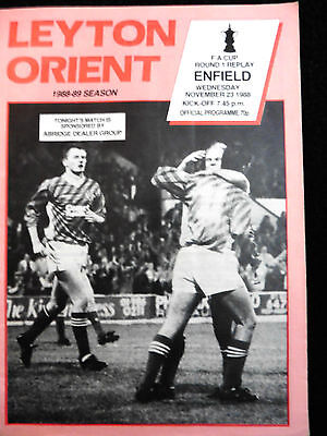 Leyton Orient V Enfield Fa Cup 1St Round 1St  Replay 23/11/1988