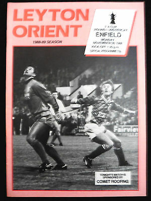 Leyton Orient V Enfield Fa Cup 1St Round 2Nd Replay 28/11/1988