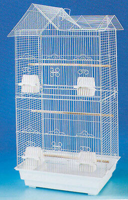 Large Tall Canary Parakeet Cockatiel LoveBird Finch Cages Bird Cage White-579