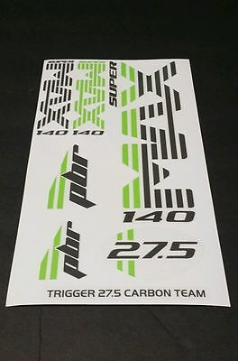 Acid Red New Cannondale Lefty PBR 2.0 27.5 120mm Decal Set