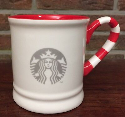 Starbucks Holiday Christmas Candy Cane Mug B Limited Edition 2017 10fl oz/296ml