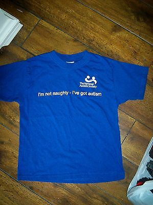 offical the national autistic society t shirt 7 8yrs  autism  must look