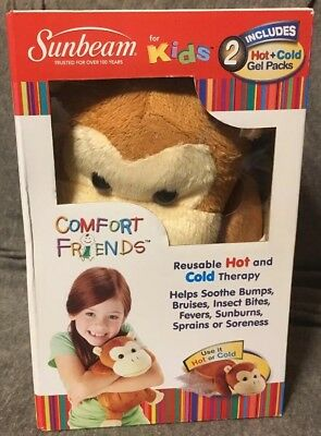 Sunbeam For Kids Comfort Friends 2 Hot Cold Gel Packs, New In Box