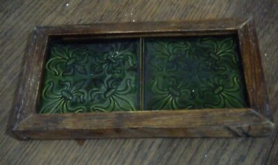 Two Reclaimed Victorian Antique Craven Dunnill & Co.Framed Floor Tiles ***