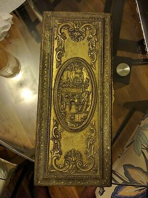 Antique Jb Jennings Brothers Box Victorian Casket Jewelry Trinket