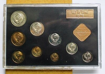 Cccp -Soviet Russia Lot Of Proof Coin 1978 - Rare Unc Set - In Mint Box - Rare