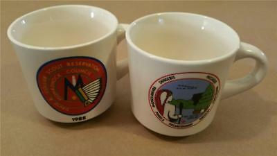 Lot of 2 BSA Bot Scout Mugs 1987 Conclave 1-b 1988 Monadnock Reservation www