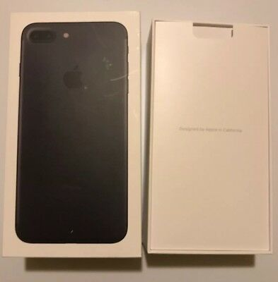 Iphone 7 Plus Box & Tray Black + Stickers & Manual.  (C2)