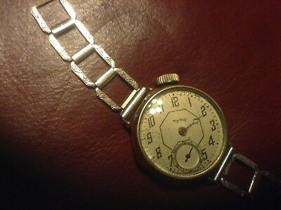Tip Top Wrist Watch Military Trench W/ Band