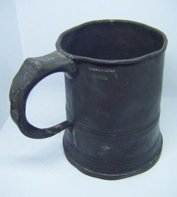 RARE early 19th Century c1820 Pewter Pint Tankard by James Yates
