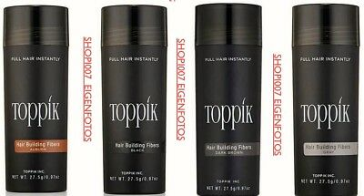 1X TOPPIK HAAR VERDICHTER HAIR BUILDING FIBERS XL  27,5 g  Dark Brown