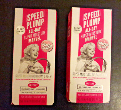 2x soap and glory speed plump all day moisture marvel 50ml