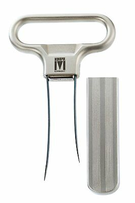 1-piece NEW Monopol Ah-So Waiter's Friend Steel 2-Prong Corkscrew with Cover