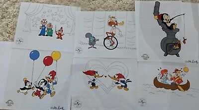 WOW! 6 Sericels w/ COA's -Alvin, Chilly, Bullwinkle, Party Pals, Woody, Dudley