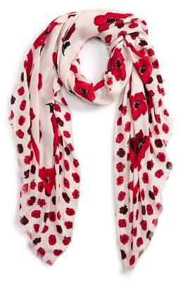 Kate Spade New York Falling Poppies Scarf NEW Retail $88.00