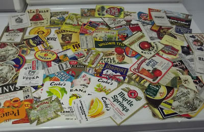 150 Different Small Vintage Product labels...All Graphic