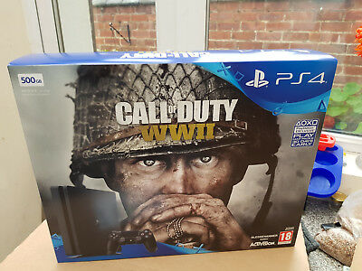 Sony Playstation 4 PS4 Slim Console / CoD Call of Duty WW2 BUNDLE