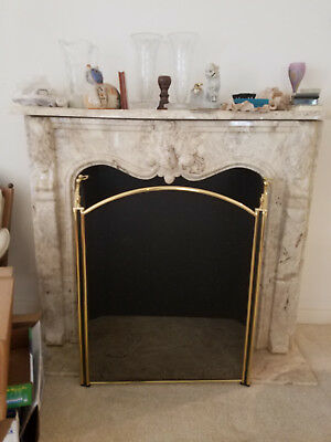 Faux Fireplace Marble carved Mantle, Fireplace, Base Great Buy Local Pick Up Fla