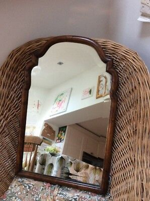 Vintage Quality Walnut Hall Mirror