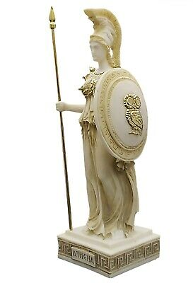 Athena Minerva Greek Roman Goddess Hand Painted Statue Sculpture Figure 9.65""