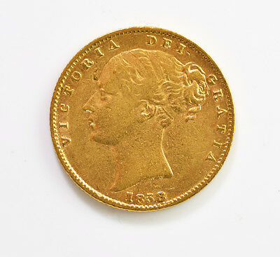 1858 Sov Gold Coin Victoria - Extra Fine From Great Britain